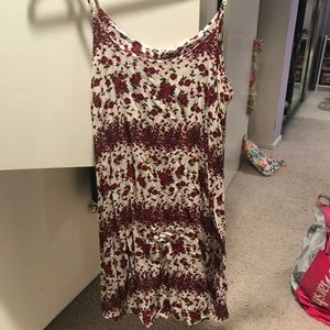 Brandy Melville Red and White Dress